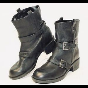 Cole Haan Alix Nike Air Black Moto Boots
